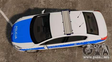 Peugeot 508 Polish Police [ELS] para GTA 4 visión correcta