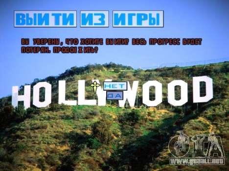 Nuevo menú y una nueva fuente para GTA San Andreas décimo de pantalla