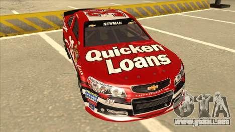 Chevrolet SS NASCAR No. 39 Quicken Loans para GTA San Andreas left