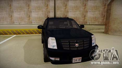 Cadillac Escalade 2011 Unmarked FBI para GTA San Andreas left