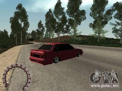 BPAN VAZ 2115 para GTA San Andreas vista posterior izquierda