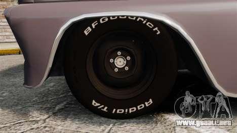 Chevrolet C-10 Stepside v3 para GTA 4 vista hacia atrás