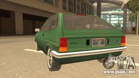 Ford Fiesta para GTA San Andreas vista hacia atrás