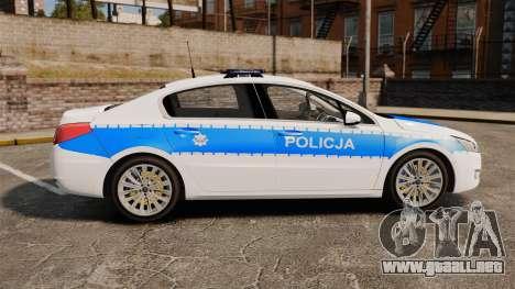 Peugeot 508 Polish Police [ELS] para GTA 4 left