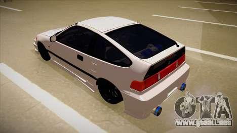 Honda CRX JDM Style para GTA San Andreas vista hacia atrás