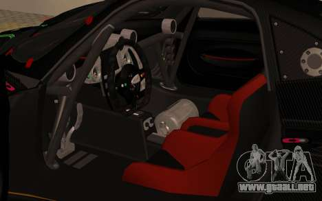Pagani Zonda R SPS para GTA San Andreas vista hacia atrás