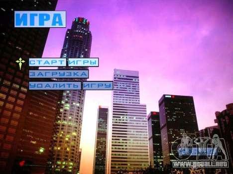 Nuevo menú y una nueva fuente para GTA San Andreas tercera pantalla