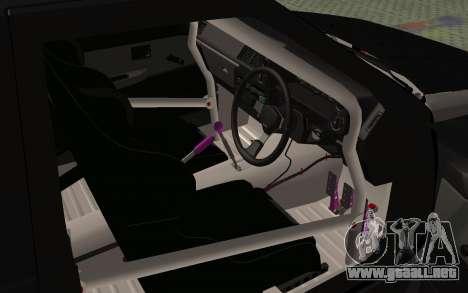 Toyota AE86 Street Drift para GTA San Andreas vista hacia atrás