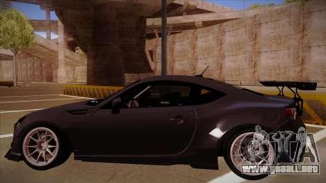 Subaru BRZ Rocket Bunny para la visión correcta GTA San Andreas