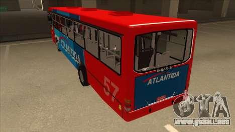Marcopolo Torino G6 Linea 57 Atlantida para GTA San Andreas vista hacia atrás