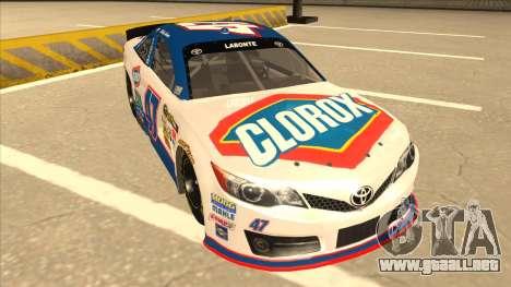 Toyota Camry NASCAR No. 47 Clorox para GTA San Andreas left