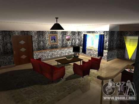 Nuevo edificio de 2 pisos interior CJ para GTA San Andreas