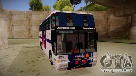 Busscar Jum Buss 400 P Volvo para GTA San Andreas left