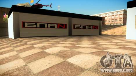 El garaje en Doherty BPAN v1.1 para GTA San Andreas sucesivamente de pantalla