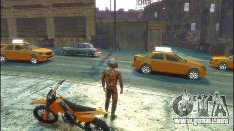 Jinete para GTA 4 adelante de pantalla