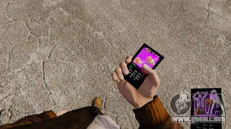 Temas para las marcas de comida rápida de teléfo para GTA 4 adelante de pantalla