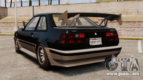 Futo actualizado para GTA 4 Vista posterior izquierda