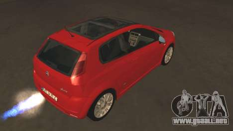 Fiat Grande Punto para GTA San Andreas vista hacia atrás