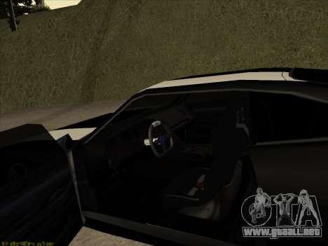 New Jester para GTA San Andreas vista hacia atrás