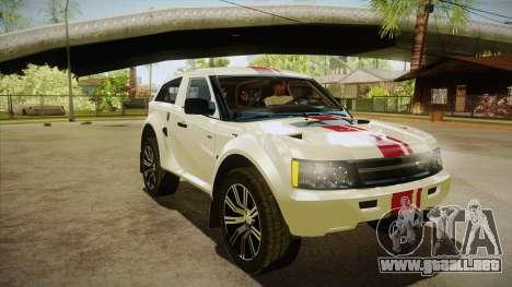Bowler EXR S 2012 HQLM para GTA San Andreas vista hacia atrás