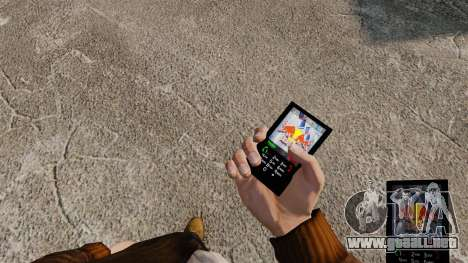 Temas para teléfono marcas bebidas para GTA 4 adelante de pantalla