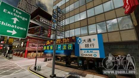 Tiendas reales para GTA 4 adelante de pantalla