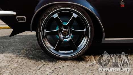 Shelby GT500 para GTA 4 vista hacia atrás