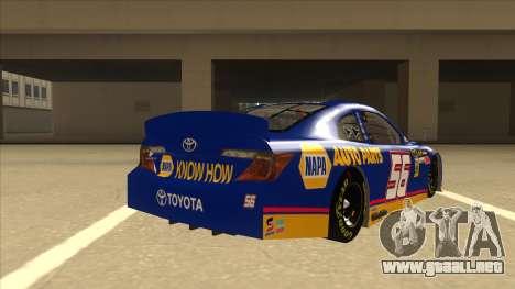 Toyota Camry NASCAR No. 56 NAPA para la visión correcta GTA San Andreas