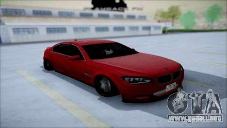 BMW 750 Li Vip Style para GTA San Andreas vista hacia atrás