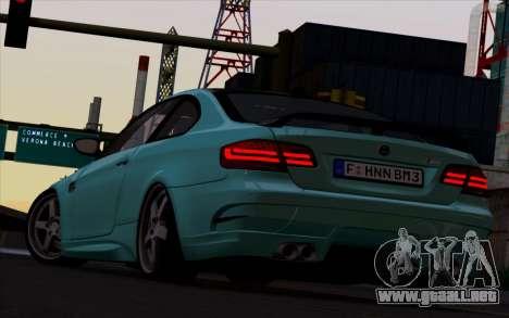 BMW M3 Hamann para GTA San Andreas vista posterior izquierda