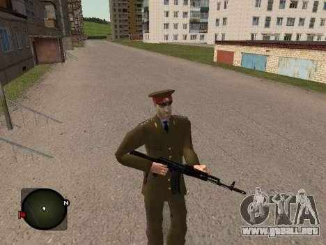 Comandante General del ejército ruso para GTA San Andreas sucesivamente de pantalla