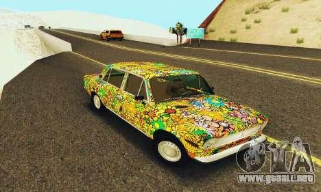 VAZ 21011 Hippie para GTA San Andreas vista posterior izquierda