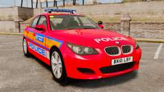 BMW M5 E60 Metropolitan Police 2010 ARV [ELS] para GTA 4