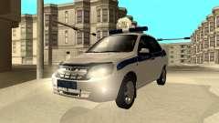 Lada Granta 2190 policía v 2.0 para GTA San Andreas