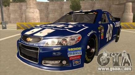 Chevrolet SS NASCAR No. 48 Lowes blue para GTA San Andreas