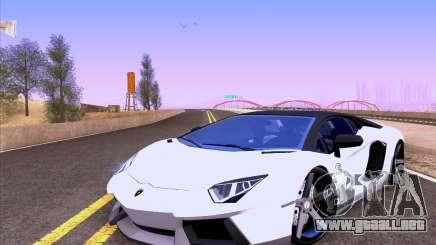 Lamborghini Aventador LP700-4 Vossen 2012 V2.0 F para GTA San Andreas