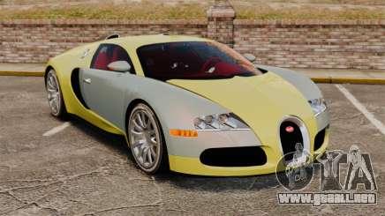 Bugatti Veyron Gold Centenaire 2009 para GTA 4