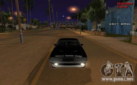 Challenger Missile para GTA San Andreas left