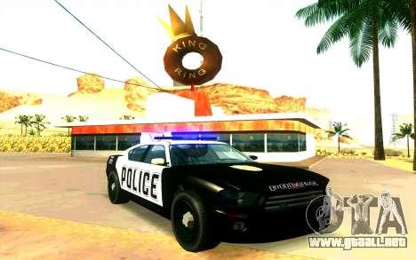 Police Buffalo GTA V para GTA San Andreas vista posterior izquierda