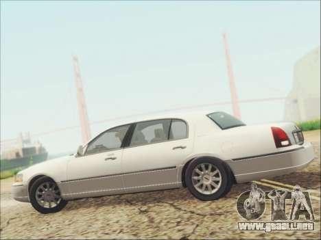 Lincoln Town Car 2010 para la vista superior GTA San Andreas