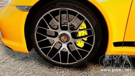 Porsche 911 Turbo 2014 [EPM] Turbo Side Stripes para GTA 4 vista hacia atrás