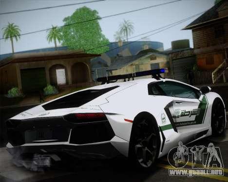 Lamborghini Aventador LP700-4 2012 RCPD V1.0 para GTA San Andreas vista hacia atrás
