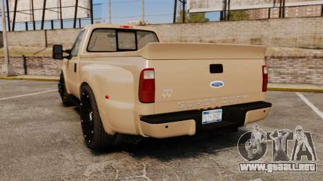 Ford F-350 Pitbull para GTA 4 Vista posterior izquierda