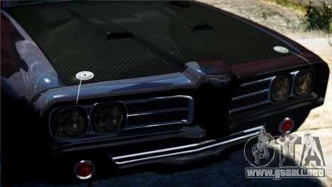 Cazador de caballería de Burnout Paradise para GTA 4 vista hacia atrás