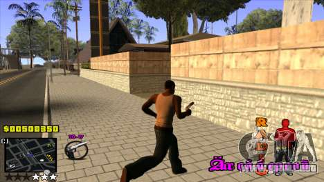 C-HUD Radio para GTA San Andreas tercera pantalla