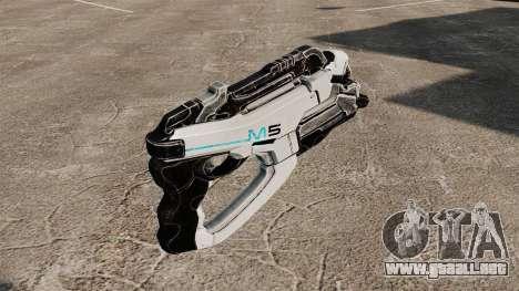 Pistola Mass Effect v1 para GTA 4 segundos de pantalla