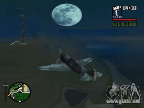 LA-5 para GTA San Andreas vista posterior izquierda