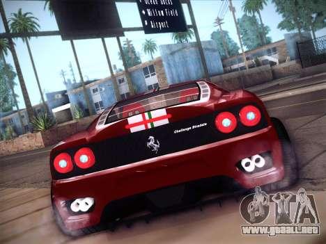 Ferrari 360 Challenge Stradale para la visión correcta GTA San Andreas