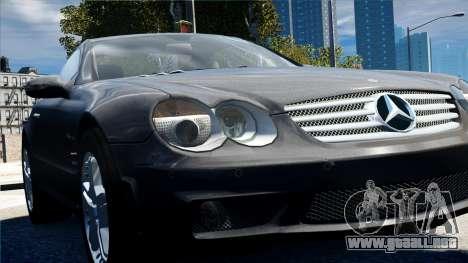 Mercedes-Benz SL65 2007 para GTA 4 vista hacia atrás