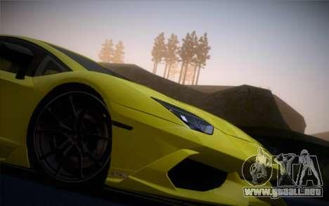 Lamborghini Aventador LP720-4 50th Anniversario para GTA San Andreas vista posterior izquierda